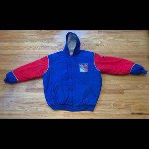 Vintage Starter NY Rangers Jacket Coat Parka